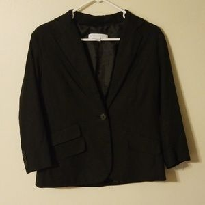 New York and Company Black Blazer 3/4 Sleeves